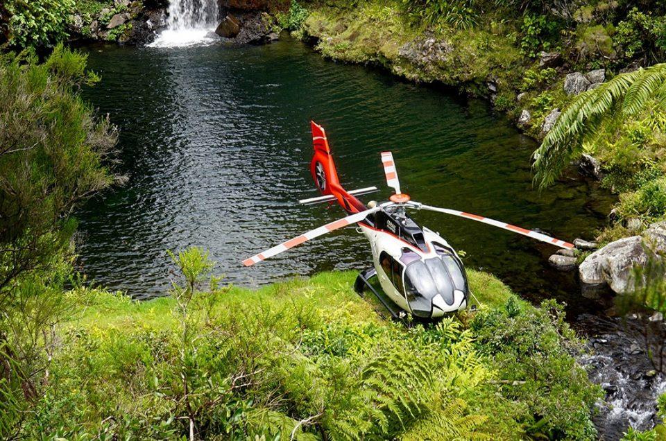 survol en hélicoptère, la réunion