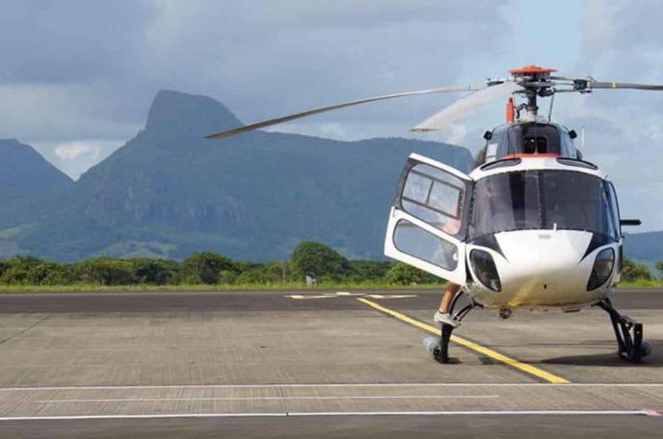 hélicoptère AS355N, ile maurice
