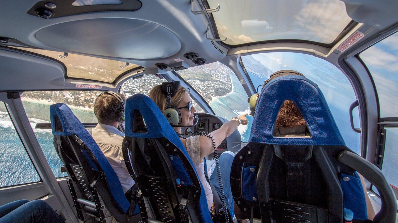 survol en helicoptere de l'ile de la reunion
