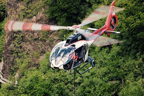 reunion island luftarbeit helikopter