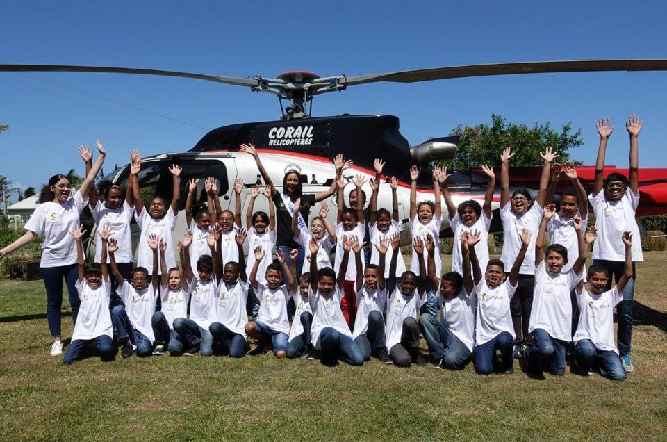 Corail Hélicoptères et l'association Mille Sourires