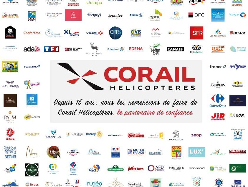 Corail Hélicoptères remercie ses partenaires 2019