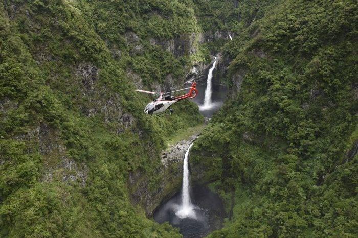 Herz der Wasserfälle von Saint-Pierre