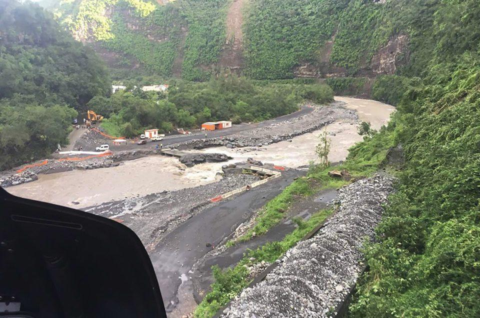 Tempête et Volcan : Corail Hélicoptères a répondu présent