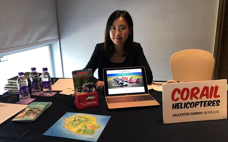 Corail Hélicoptères présent au salon du tourisme en Chine