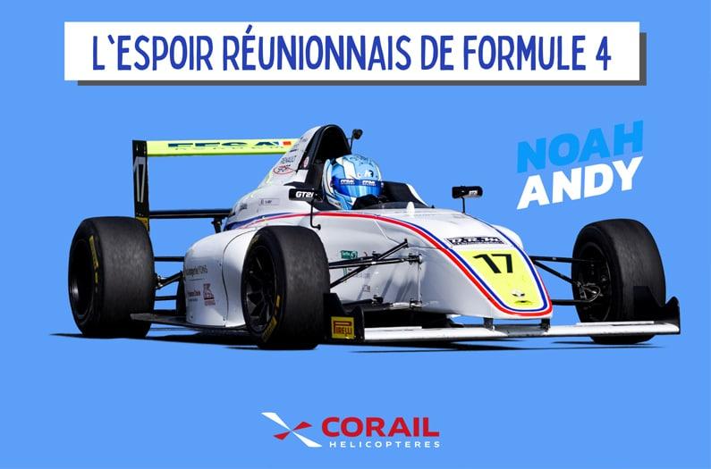 Formule 4  : Noah Andy, l'espoir réunionnais