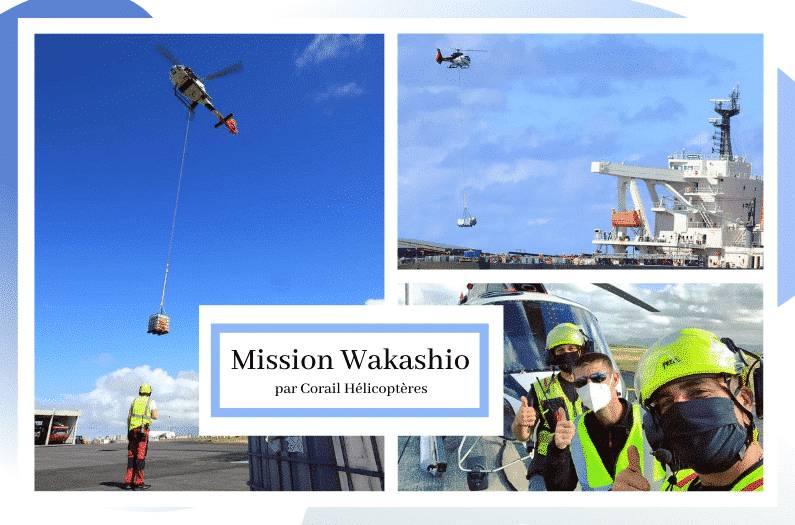 Mission Wakashio : Corail Hélicoptères Réunion et Maurice main dans la main