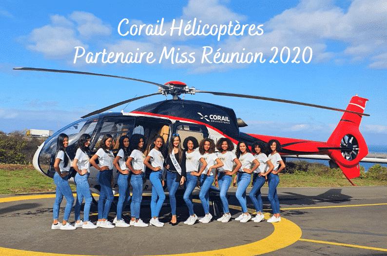 Corail Hélicoptères et Miss Réunion 2020