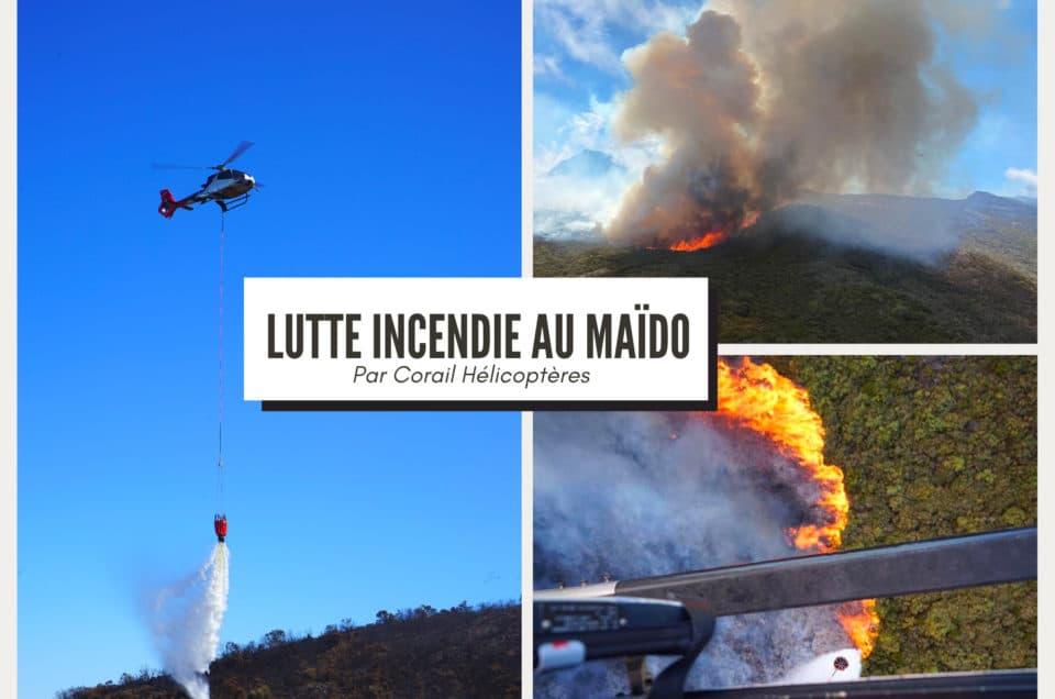 Lutte incendie au Maïdo