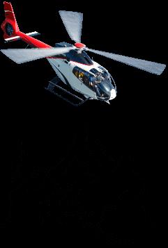 Flotte moderne d'hélicoptères